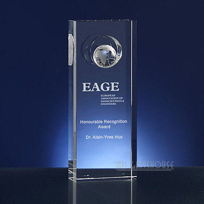 Glass Art Trophies And Awards